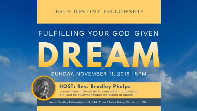 Church Workshop Invitation Facebook Cover Video Template