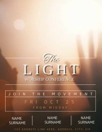 Church Worship Conference Flyer template