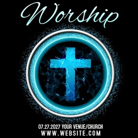 CHURCH WORSHIP EVENT AD Logótipo template
