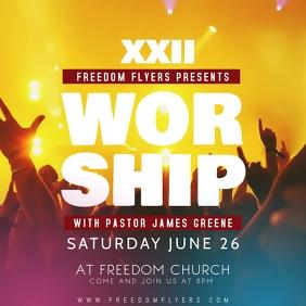 Church Worship Event Instagram Post Template Instagram-bericht