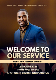 church WORSHIP flyer A3 template