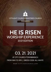 church worship flyer A3 template