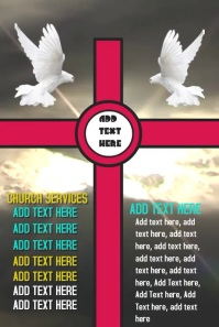 Church Worship Good Friday services Template Gráfico de Pinterest