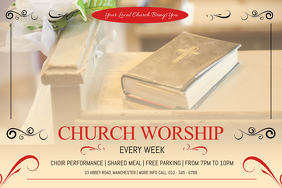 Church Worship Invitiation Landscape Poster