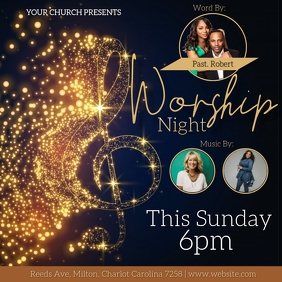 CHURCH Worship Night AD template Vierkant (1:1)