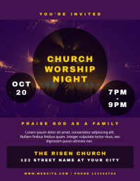 Church Worship Night Flyer Template