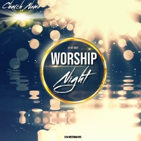 church worship night online event ad