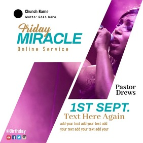 church worship online posters template