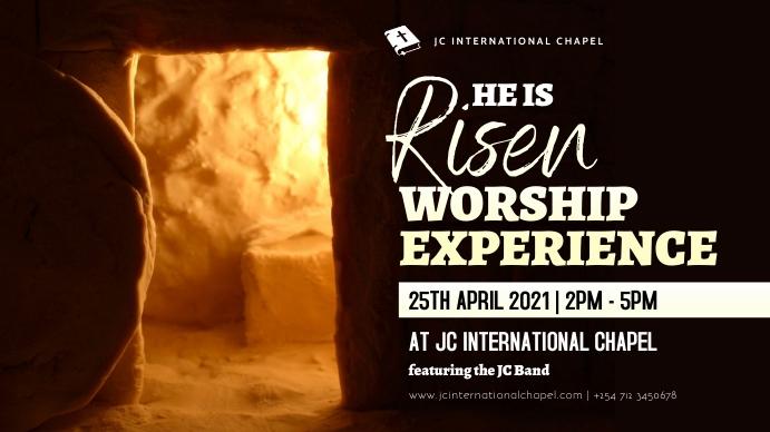 church worship poster Digital na Display (16:9) template