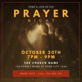 Church Worship Prayer Night