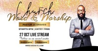 church worship service ad template Facebook Shared Image