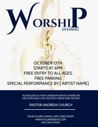 Church Worship Service Event Template