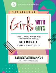 CHURCH Young girls EVENT AD Flyer Template