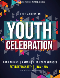 Church Youth Celebration Event Flyer Template