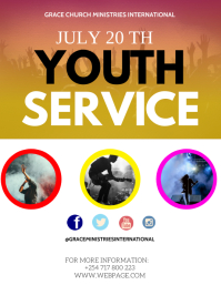 CHURCH YOUTH CONFERENCE Løbeseddel (US Letter) template