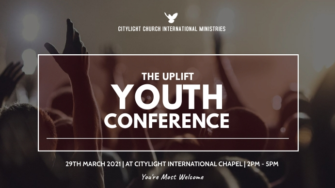 church YOUTH CONFERENCE flyer Digitalt display (16:9) template