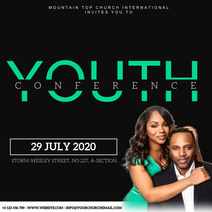 CHURCH YOUTH CONFERENCE template Cuadrado (1:1)