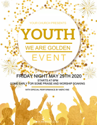 CHURCH YOUTH EVENT Design Template Flyer (US Letter)