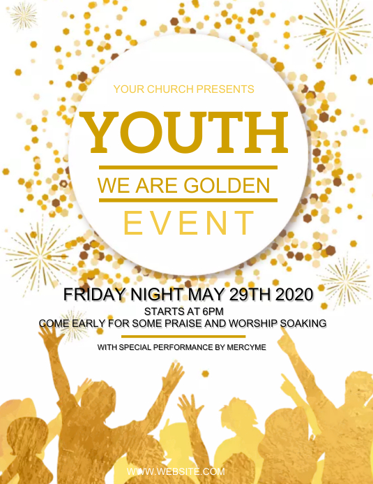 CHURCH YOUTH EVENT Design Template Pamflet (Letter AS)