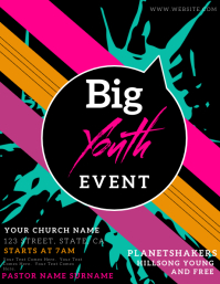 CHURCH YOUTH EVENT FLYER TEMPLATE