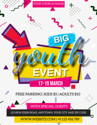 CHURCH YOUTH EVENT FLYER TEMPLATE Volantino (US Letter)