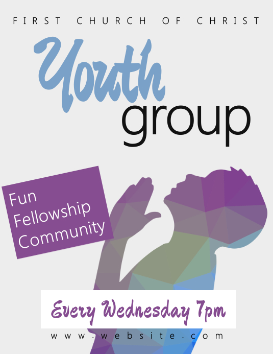 Church Youth Group Flyer