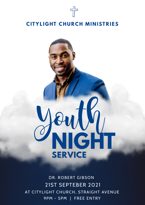church youth night A3 template