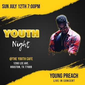 CHURCH YOUTH NIGHT FLYER TEMPLATE