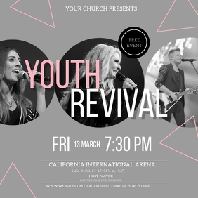 Church Youth Night Flyer Template Instagram Post