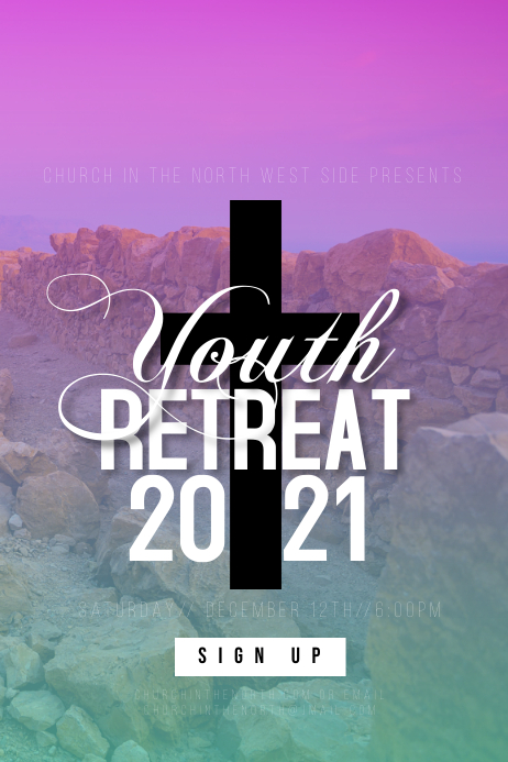 Church Youth Retreat Event Flyer Poster template