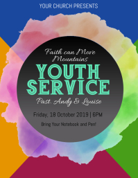 Church Youth Service Event Flyer Template