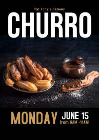Churro flyer A4 template