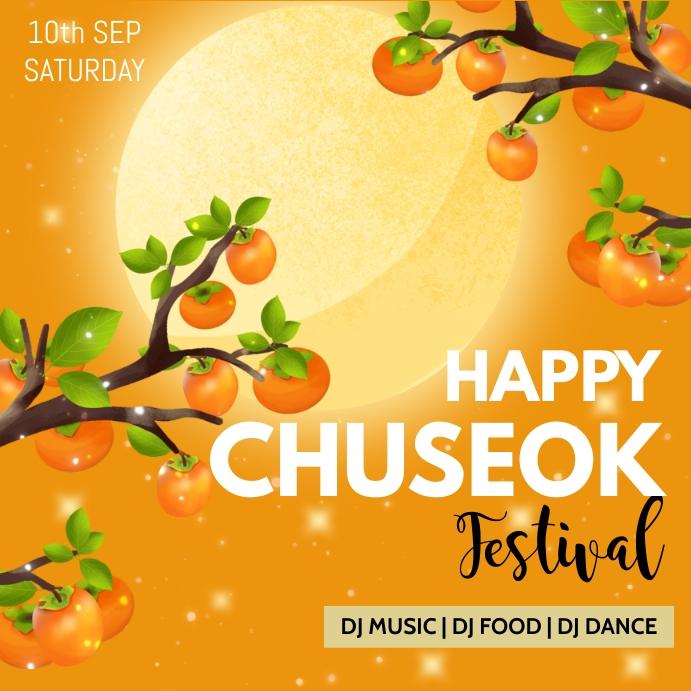 Chuseok,chuseok festival Instagram-opslag template