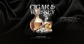 CIGAR & WHISKEY facebook Flyer Template