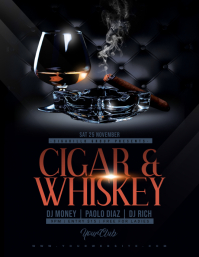 CIGAR & WHISKEY Flyer Template