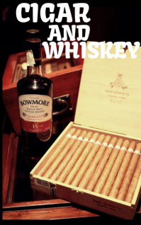 CIGAR AND WHISKEY FYER TEMPLATE Обложка Kindle
