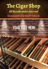 Cigar Shop Flyer A4 template