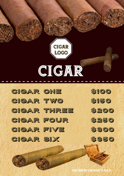 Cigar Smoking Father Day Poster Flyer
