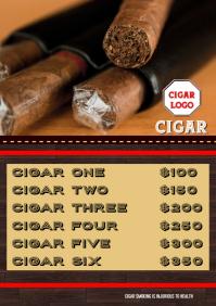Cigar Smoking Poster Flyer A4 template