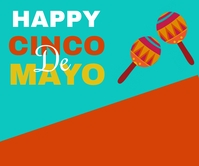 Cinco de mayo,event,festival Large Rectangle template