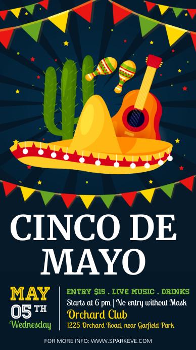 Cinco De Mayo , cinco de mayo party Instagram Story template