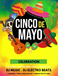 cinco de mayo ,Carnival, Masquerade Party Volante (Carta US) template