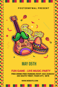 Cinco de mayo banner design template