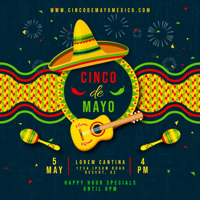Cinco de Mayo Bar Advert Template Instagram-opslag