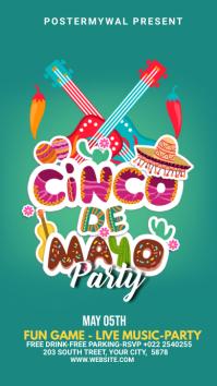 Cinco de mayo celebration banner ads Instagram Story template