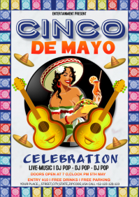 Cinco De Mayo Celebration A4 template