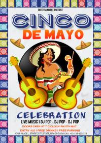 Cinco De Mayo Celebration A4 template