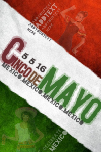 Cinco de Mayo Celebration Fiesta Spanish Mexico Mexican Holiday Event Ad Bar Band Business