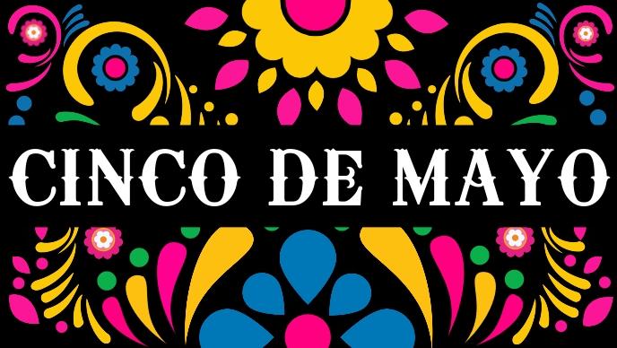 Cinco De Mayo Celebration Template Facebook Cover Video (16:9)