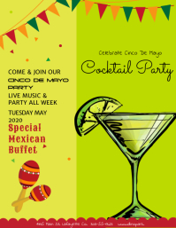 Cinco De Mayo Cocktail Party Template Flyer (US-Letter)